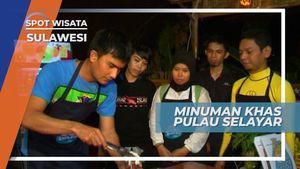 Saronso, Minuman Parutan Kelapa Dibalut Gula Merah Cair Khas Pulau Selayar Sulawesi Selatan