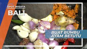 Bumbu Lengkap Ditumbuk Hingga Halus, Menambah Nikmat Ayam Betutu, Kuliner khas Bali