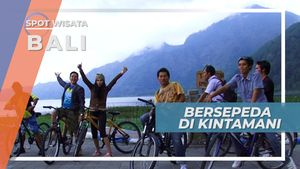 Bersepeda Di Jalur Berliku Indah Melalui Gunung Batur Kintamani Bali