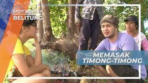Dibakar di Atas Kayu Tanpa Bumbu, Memasak Timong-timong Belitung