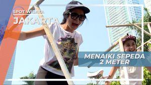 Mengumpulkan Keberanian untuk Mengendarai Sepeda Setinggi 2 Meter, Jakarta