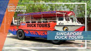 Mencoba Fasilitas Mobil Bebek, Bisa Berjalan di Air dan di Darat, Singapura