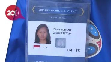 Mengenal Dina Maurissa, Volunteer Piala Dunia dari Indonesia