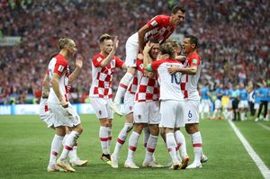 Tendangan Perisic Gol! Prancis 1-1 Kroasia