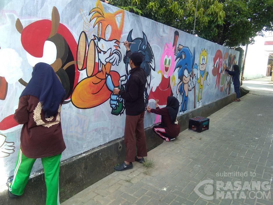 Event Mural Meningkatkan Kreativitas Anak di Dinding Tembok