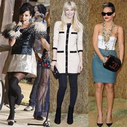 Hitam Putih Selebritis di Chanel Fashion Show
