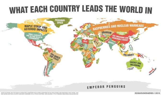 Mau Tahu Ciri Khas Tiap Negara? Cek Peta Ini
