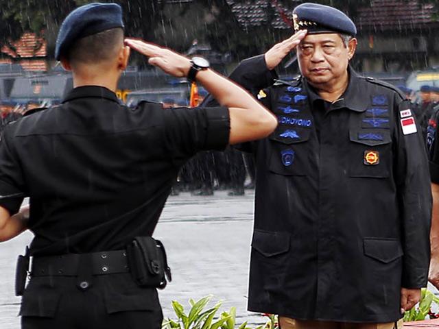 Presiden SBY Jadi Warga Kehormatan Brimob