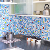 Warna Biru Membuat Dapur Terasa Nyaman