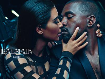Mengintip Keintiman Kim Kardashian dan Kanye West di Iklan Balmain