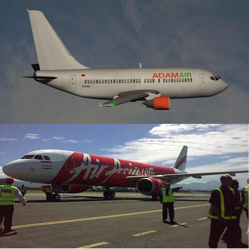 Perbandingan Pencarian Kotak Hitam Adam Air KI574 dan AirAsia QZ8501