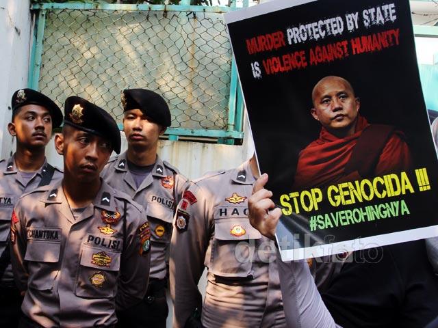Kedubes Myanmar Kembali Didemo Kasus Rohingya