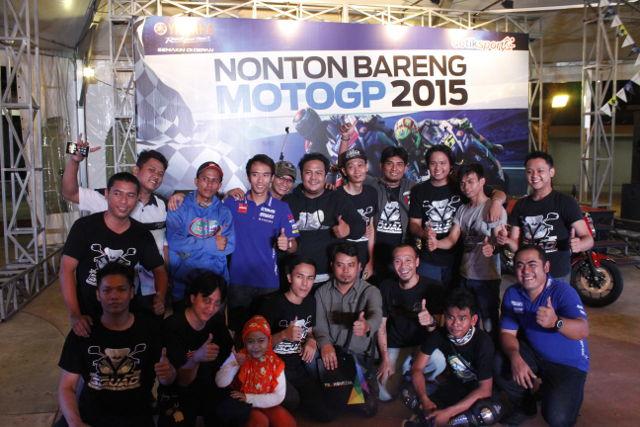 Pesta Nobar MotoGP di Serpong