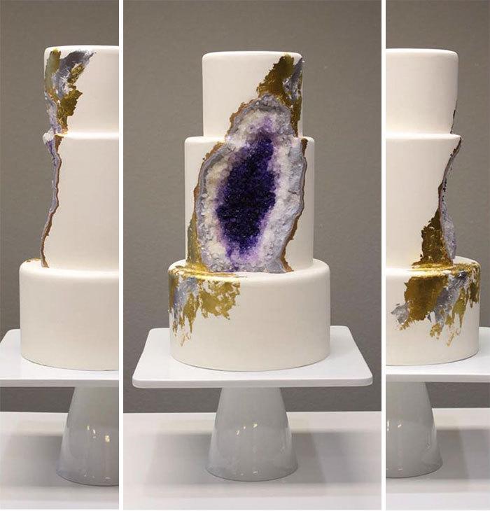 Desain Kue Tart Seperti Batu Alam Ini Akan Jadi Tren?