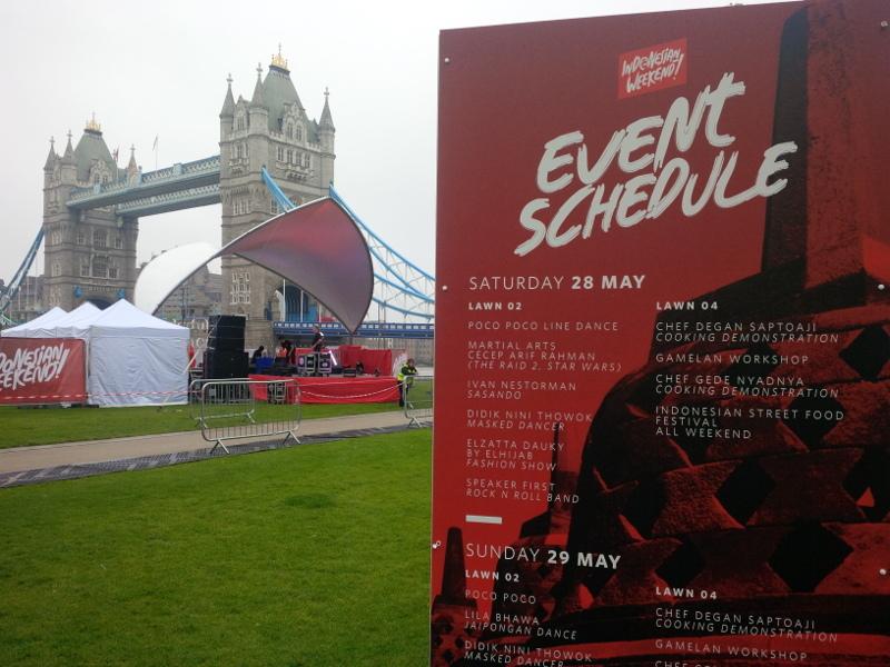 Ini Dia Aneka Acara Seru Hari Pertama Indonesian Weekend di London
