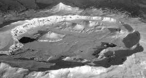Gunung Okmok di Alaska Meletus