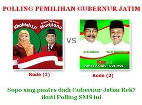 Aan dan Ariyanto Menangi Laptop Polling Pilgub Jatim