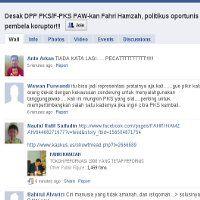 1000 Facebooker Desak Kader PKS Fahri Hamzah Diganti