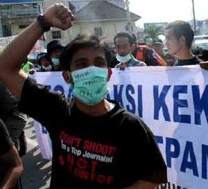 Wartawan Medan Berdemo