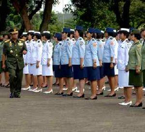 Apel Bersama Wanita TNI