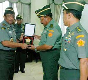 Laporan Sertijab Asops Panglima TNI