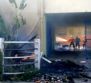 Wisma Guru PGRI Terbakar