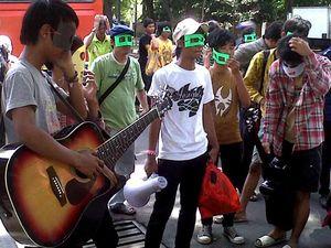 Anak Jalanan Demo di KPAI