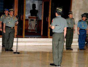 Panglima TNI Terima Laporan Kenaikan Pangkat