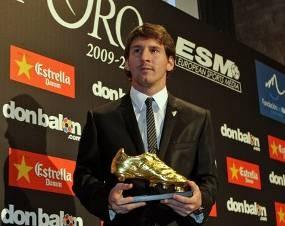 Sepatu Emas untuk Messi