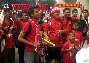 Pendukung Garuda Mulai Padati Senayan