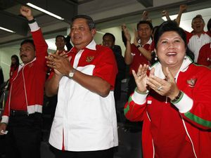SBY Nonton Laga Timnas
