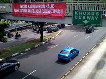 Spanduk Nurdin Halid di Jakarta