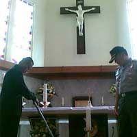 Pengamanan Gereja di Kediri Diperketat