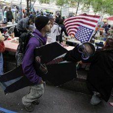 Demonstran Desak Perdagangan Wall Street Ditutup Lusa