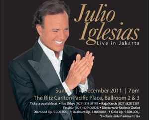 Julio Iglesias Konser di Jakarta 4 Desember