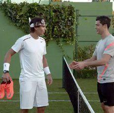 Nadal & Ronaldo \Bertanding\, lalu Berebut Sepatu