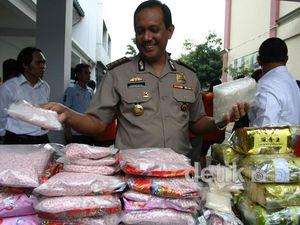 Polisi Sita 382 Ribu Butir Pil Ekstasi & 30,5 Kg Sabu