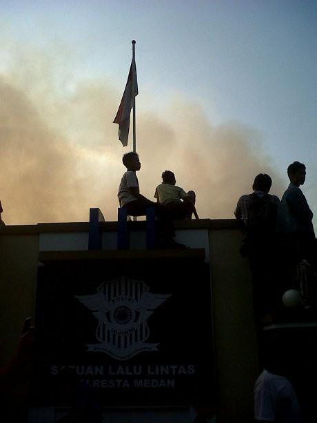 Api di Kantor Satlantas Polresta Medan Padam, Ruang Pimpinan Hangus