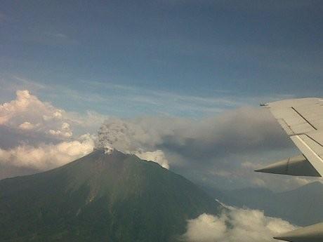 Ini Penampakan Letusan Gunung Gamalama