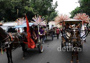 Delman Hias Ramaikan Pelantikan Jokowi-Ahok