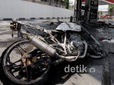 Ini Dia Thunder yang Terbakar di Pom Bensin Jayakarta