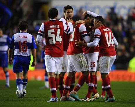 Menangi Drama 12 Gol, Arsenal Singkirkan Reading