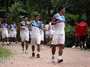 Hadapi Indonesia, Laos Geber Latihan Fisik