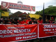 Mendieta Meninggal, Suporter Solo Demo: Bubarkan PSSI dan KPSI!
