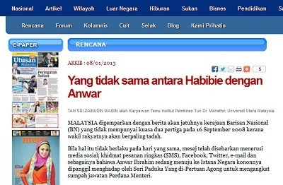 Dulu Menghina, Eks Menteri Penerangan Malaysia Kini Memuji Habibie