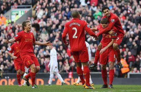 Liverpool Gilas Swansea 5-0