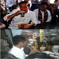 Begini Nih 4 Gaya Minum-minum ala Jokowi
