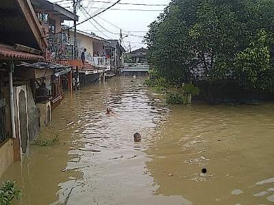 2 Rumah Rusak Diterjang Banjir di Tapanuli Tengah Sumut