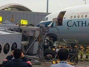 Tragis! Garbarata Ambruk di Bandara Hong Kong