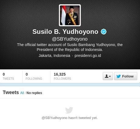 Screenshot Twitter SBY (Twitter)